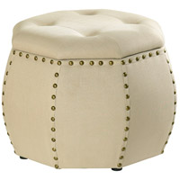 Roxie Rose 24 inch Wood and Cream Stool