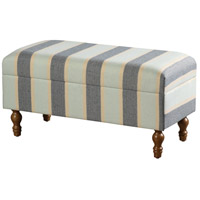 Signature Natural Storage Bench, Stripe Design