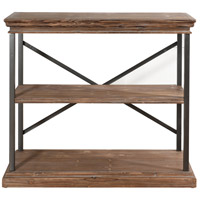 Archer Ridge Black and Driftwood Grey Bookcase