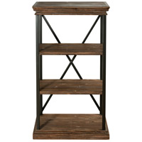 StyleCraft Home Collection AF42379DS Archer Ridge Black and Driftwood Grey Bookcase