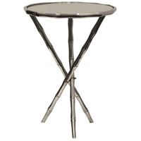 Signature 21 X 15 inch Silver and Clear Accent Table