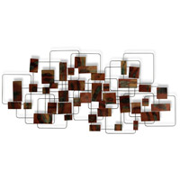 Retro Modo Rust and Gray and Black Wall Sculpture