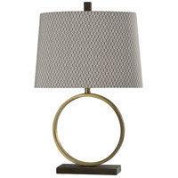 StyleCraft Home Collection BK27399DS Signature 28 inch 150 watt Brass Finish Table Lamp Portable Light