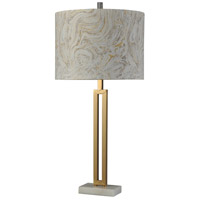 StyleCraft Home Collection BK314752DS Signature 33 inch 150 watt Marble Gold Table Lamp Portable Light
