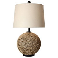 StyleCraft Home Collection CJT1041DS Signature 29 inch 150 watt Natural Rope Table Lamp Portable Light
