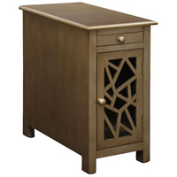 StyleCraft Home Collection DCA7421DS Signature 24 X 22 inch Mahogany Veneer Chairside Table