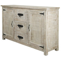 Signature 59 X 17 inch Distressed White Sideboard