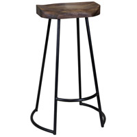 Gavin 30 inch Dark Brown and Black Stool