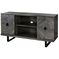 Wesley 52 X 16 inch Slate Gray and Black Console Table