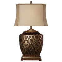 StyleCraft Home Collection JS-1004DS Signature 3 inch 100 watt Antique Platinum and Barbados Table Lamp Portable Light
