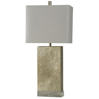 StyleCraft Home Collection JS2594DS Signature 34 inch 100 watt Silver Wood Table Lamp Portable Light