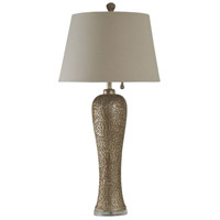 StyleCraft Home Collection JS2627DS Signature 4 inch 100 watt Bellevue Silver Table Lamp Portable Light