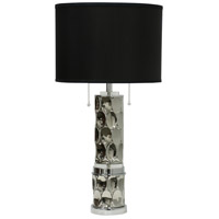 StyleCraft Home Collection JS2630DS Signature 35 inch 60 watt Silver Table Lamp Portable Light