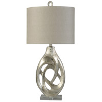 Silver Clear Polyester Fabric Table Lamps