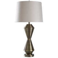 StyleCraft Home Collection JS317776DS Warwick 35 inch 150 watt Brushed Brass Table Lamp Portable Light