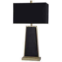 StyleCraft Home Collection JS317963DS Ealing 30 inch 100 watt Black and Brushed Brass Table Lamp Portable Light