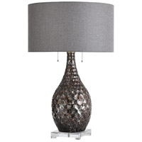 StyleCraft Home Collection JS317988DS Lydney 27 inch 60 watt Brown and Silver Table Lamp Portable Light