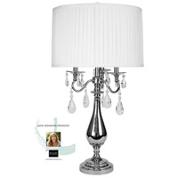 StyleCraft Home Collection JS6579DS Signature 32 inch 60 watt Plated Nickel Table Lamp Portable Light