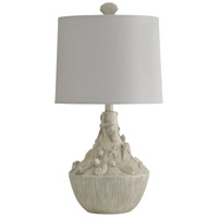 StyleCraft Home Collection KL25386DS Signature 26 inch 150 watt White Sandstone Table Lamp Portable Light