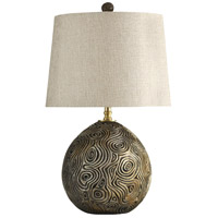 StyleCraft Home Collection KL312013DS Signature 3 inch 150 watt Distressed Gold Table Lamp Portable Light