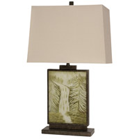 StyleCraft Home Collection KL313325DS Signature 31 inch 100 watt Dark Brown and Greem Table Lamp Portable Light