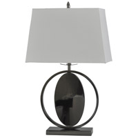 Signature 29 inch 100 watt Black Nickel and White Table Lamp Portable Light
