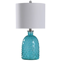 StyleCraft Home Collection L10161BDS Signature 24 inch 100 watt Bright Blue Table Lamp Portable Light