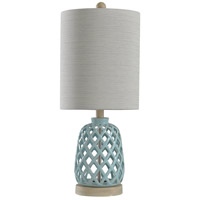 StyleCraft Home Collection L10173ADS Signature 23 inch 100 watt Blue Table Lamp Portable Light