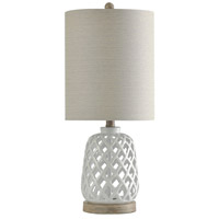 StyleCraft Home Collection L10173DS Signature 23 inch 100 watt White Table Lamp Portable Light