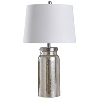 StyleCraft Home Collection L10203DXDS Signature 25 inch 100 watt Mercury and Silver Table Lamp Portable Light