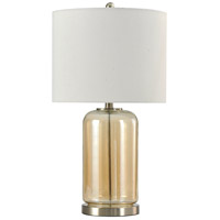 StyleCraft Home Collection L10230DS Signature 26 inch 100 watt Amber and Silver Table Lamp Portable Light