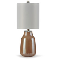StyleCraft Home Collection L10252DS Beacon 10 inch 100 watt Apricot and Crystal Table Lamp Portable Light