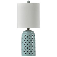 StyleCraft Home Collection L10296DS Beacon 10 inch 60 watt Seafoam and Off White Table Lamp Portable Light