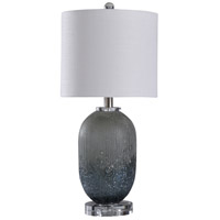 StyleCraft Home Collection L10329XDS Signature 23 inch 60 watt Grey and Clear Table Lamp Portable Light