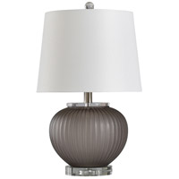 StyleCraft Home Collection L10346ADS Benton 10 inch 150 watt Smoked Gray and Clear Table Lamp Portable Light