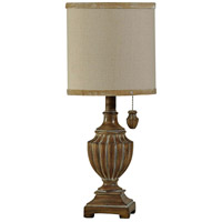 Signature 19 inch 40 watt Kerala Brown Table Lamp Portable Light