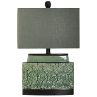 Signature 22 inch 60 watt Springfield Green Glaze Table Lamp Portable Light