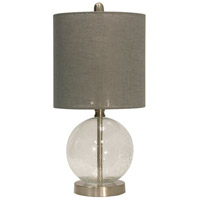 StyleCraft Home Collection L13140DS Signature 19 inch 60 watt Seeded Glass Table Lamp Portable Light