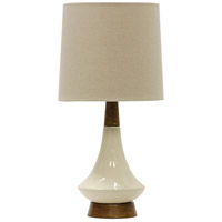 StyleCraft Home Collection L13225BDS Signature 22 inch 60 watt White Washed Wood and Cream Table Lamp Portable Light