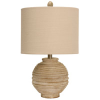 StyleCraft Home Collection L13569DS Signature 21 inch 150 watt Distressed White Table Lamp Portable Light