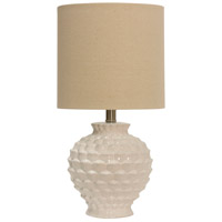 StyleCraft Home Collection L13853DS Signature 25 inch 60 watt White Table Lamp Portable Light