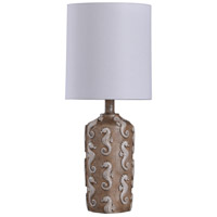 StyleCraft Home Collection L14271DS Signature 21 inch 60 watt Brown and White Table Lamp Portable Light