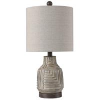 StyleCraft Home Collection L14337ADS Signature 22 inch 60 watt Garrison Gray Table Lamp Portable Light