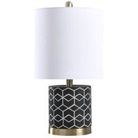 StyleCraft Home Collection L14446DS Signature 9 inch 40 watt Black and White Table Lamp Portable Light