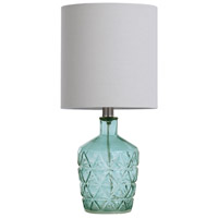 StyleCraft Home Collection L14497ADS Signature 18 inch 40 watt Sky Blue Table Lamp Portable Light