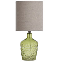 Green Polyester Fabric Signature Table Lamps