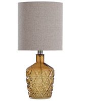 StyleCraft Home Collection L14497DS Signature 18 inch 40 watt Sunset Amber Table Lamp Portable Light