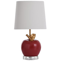 StyleCraft Home Collection L14499ADS Signature 19 inch 40 watt Red and Gold Table Lamp Portable Light