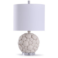 StyleCraft Home Collection L14725DS Aibion 10 inch 60 watt Cream and Clear Table Lamp Portable Light
