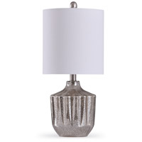 StyleCraft Home Collection L15270DS Hall 10 inch 60 watt Smoked Gray and White Table Lamp Portable Light